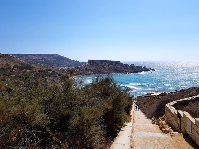 plaże na Malcie, Malta, plaża, Tuffieha Bay