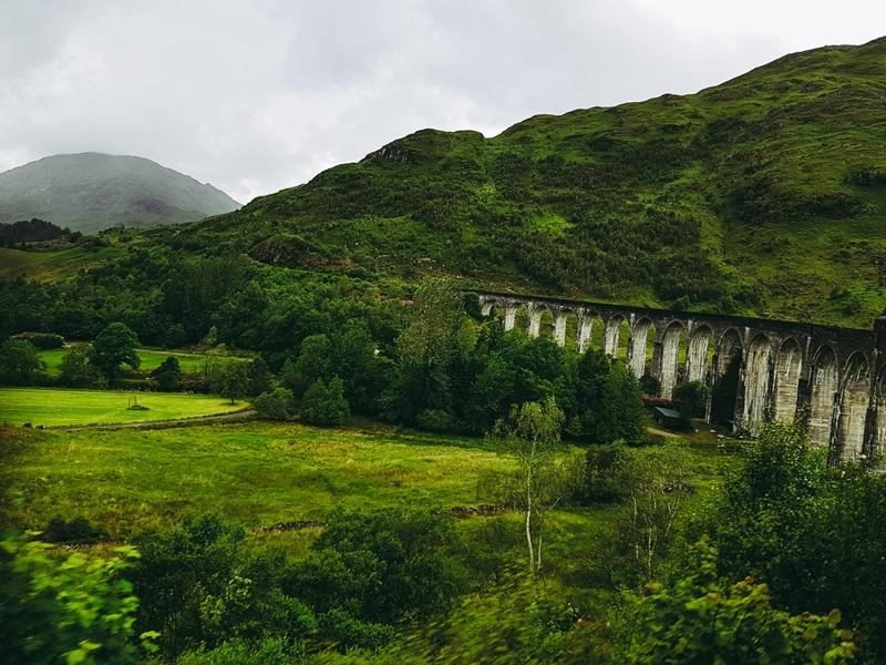 Glenfinnan wiadukt, Szkocja, Jacobite train, Hogwart Express, Fort William, pociąh, Harry Potter